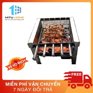 [Lò nướng] Máy nướng thịt, chả mini tự động chuẩn (xiên 100% inox đi kèm máy) loại 5 xiên mô tơ 14w quay gà