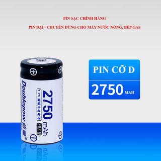 Pin đại sạc lại số 1 size c 2750mah ni-cd - doublepow - loại cao cấp, dung lượng thực - hình 1