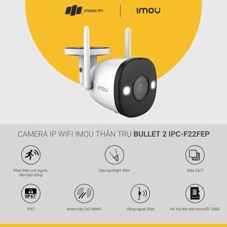 Camera giám sát IMOU IP WiFi  thân trụ Bullet 2 4M/Full Color/2-way talk/Siren/Spotlight/IP67/IR30m, 2Y WTY_IPC-F42FEP