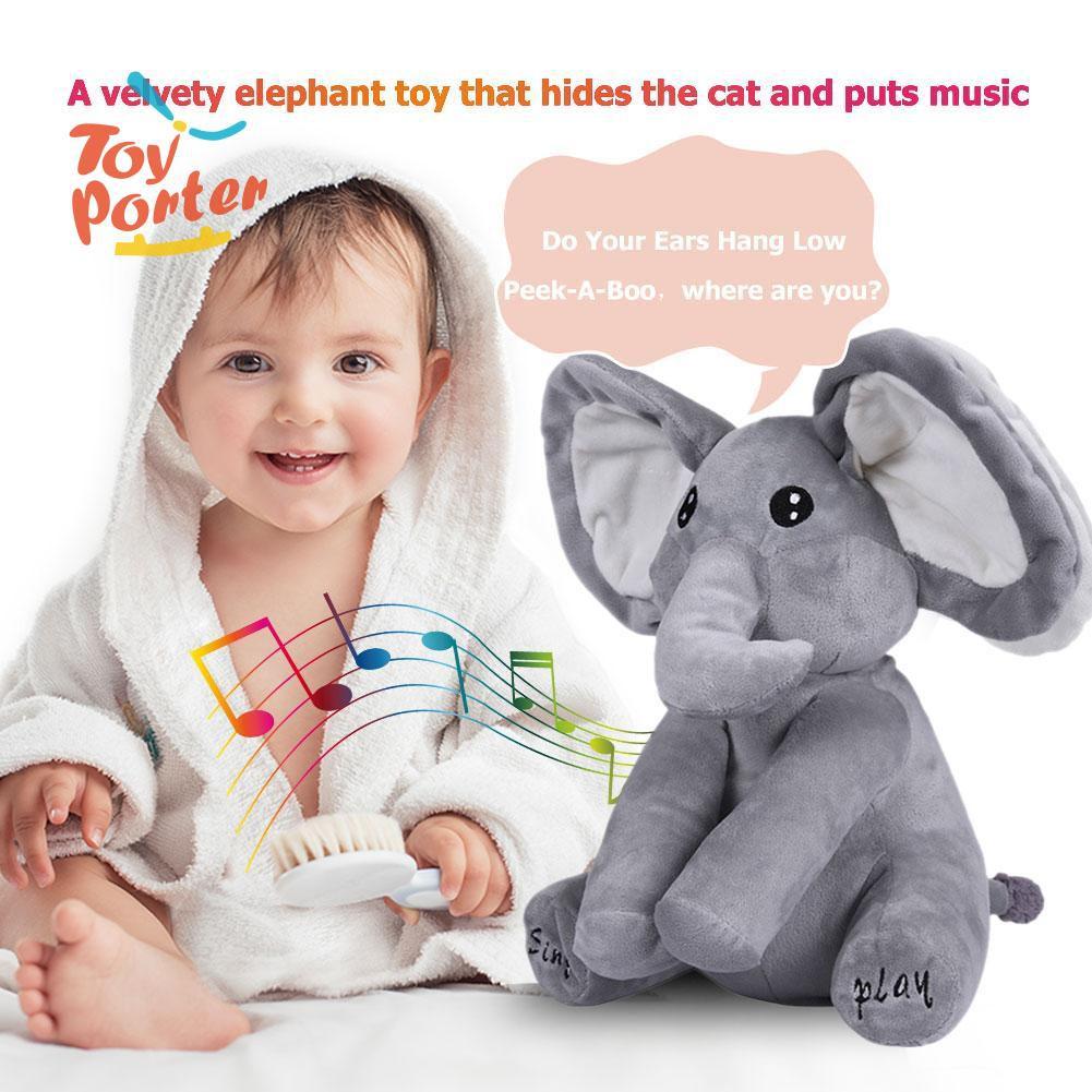 Thú nhồi bông hình chú voi phát nhạc 30cm cho em bé - 14886254 , 2504651442 , 322_2504651442 , 344000 , Thu-nhoi-bong-hinh-chu-voi-phat-nhac-30cm-cho-em-be-322_2504651442 , shopee.vn , Thú nhồi bông hình chú voi phát nhạc 30cm cho em bé