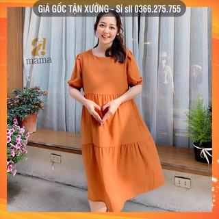 [Bán sỉ] Váy bầu dự tiệc thiết kế 3 tầng 2MAMA trơn một màu freesize dưới 75kg V12 thumbnail