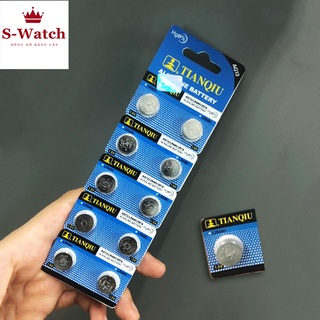 [VỈ 1 VIÊN] Pin đồng hồ cúc áo AG13 LR44 1.5V Alkaline Tianqiu chính hãng dùng cho nhiều thiết bị (LOẠI TỐT) thumbnail