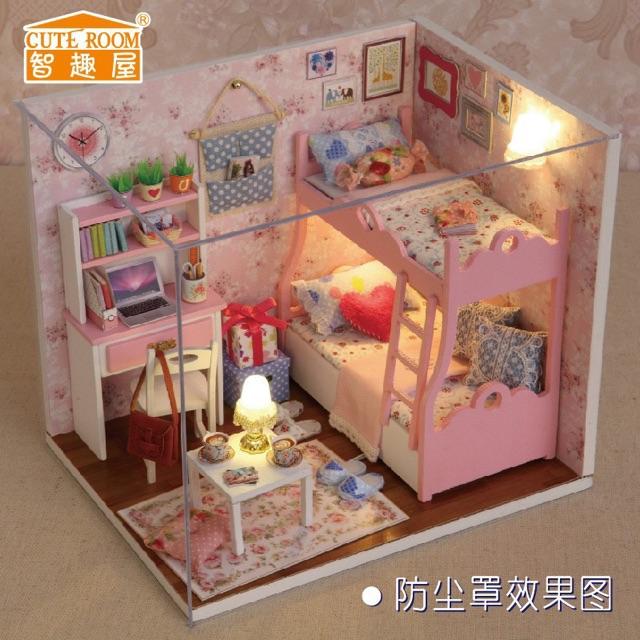 Bộ mô hình lắp ghép DIY ngôi nhà búp bê kute room