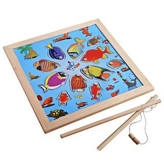 Bộ đồ chơi câu cá bằng gỗ từ tính siêu thú vị dành cho các bé