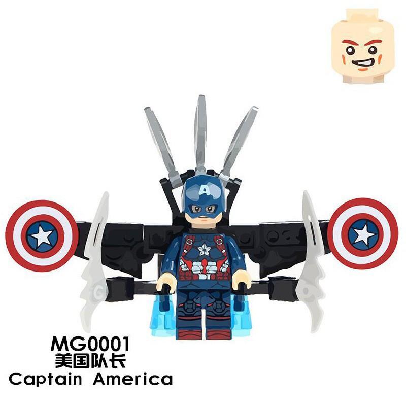 Mô Hình Đồ Chơi Lego Nhân Vật Siêu Anh Hùng Captain America 4