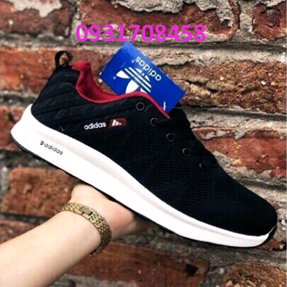 Giày Thể Thao Nam Adidas Đen Đỏ Mã A35