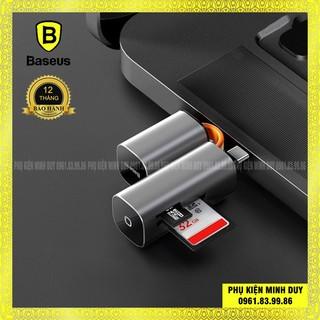 Đầu đọc thẻ nhớ đa năng cổng giao tiếp USB/ Type-C Baseus Mini Cabin Card Reader cho Smartphone/ Macbook/ Laptop