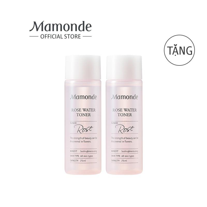 [HB GIFT] Bộ 2 chai nước hoa hồng MAMONDE Rose Water Toner 25ML/chai