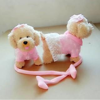 Tiếng Việt- Chó biết đi, vẫy đuôi, biết hát – mặc váy cực dễ thương cho bé