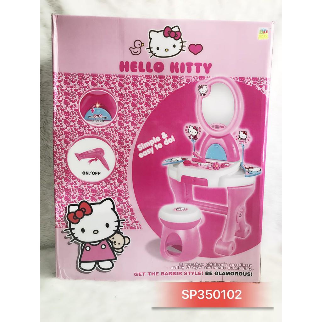 Hộp bàn trang điểm pin Hello Kitty , ghế 901-395 – SP350102
