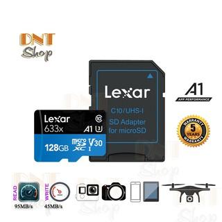Thẻ nhớ MicroSDXC Lexar 128GB A1 V30 U3 4K 633x 95MB/s - With Adapter