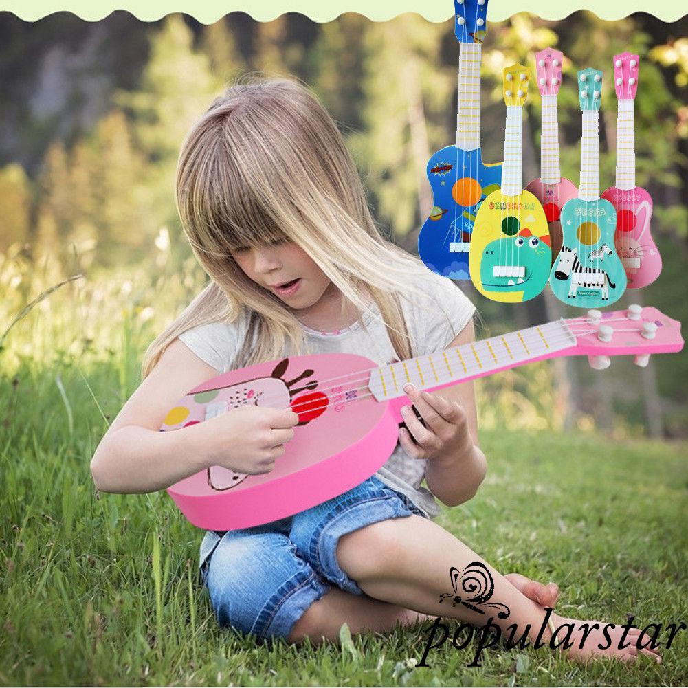 ღstar✯Kids Animal Ukulele Small Guitar Musical Instrument Educational Toy
