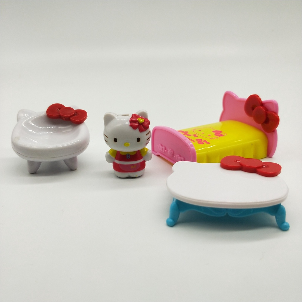 Genuine Bulk Cargo Mini BandaiKittyHello Kitty Gift Hand-Made Model Toy Doll Cake Ornament