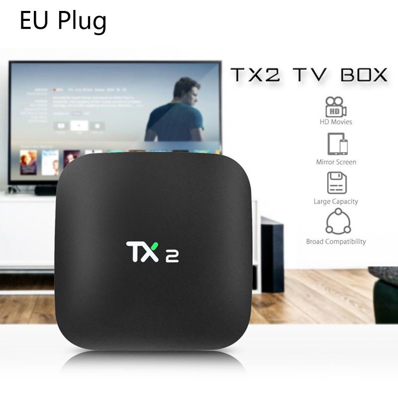 Thiết bị chuyển đổi TV thường thành smart TV 2018 TX2 2GB + 16GB Rockchip RK3229 Android 6.0 TV Box WiFi Media Player