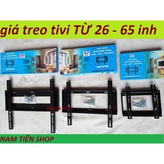 Giá Treo Tivi LED Cố Định Sát Tường Từ 19 Đến 65 Inch Kèm Ốc Vít