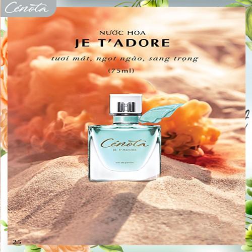 Nước hoa Pháp Cénota Je T' Adore 75ml, nước hoa Pháp hương thơm quý phái - PG01 cénota