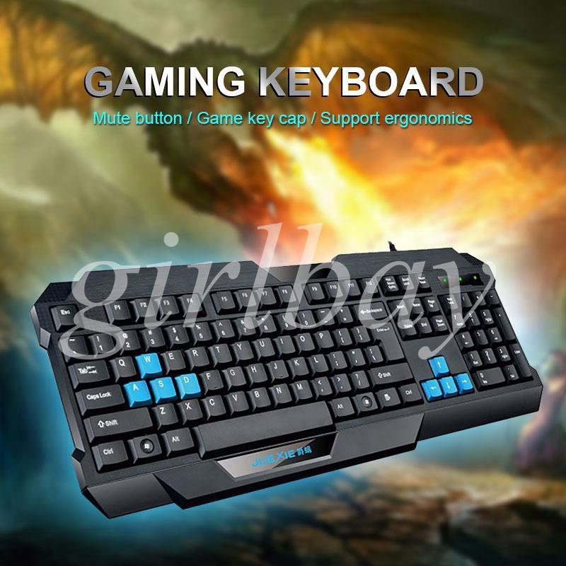 King Keyboard USB Keypad Office Desktop Durable Silent 104 Key