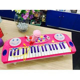 tongkhohanoi_ Đàn Organ Có Mic Có Loa ( xanh, hồng) Cho Bé