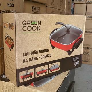 lẩu điện đa năng green cook 5 lít mẫu mới