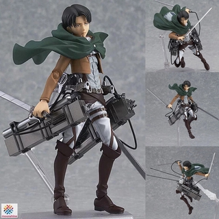 ❤PG❤ Attack on Titan Levi Ackerman PVC Figure Anime Action Figure Model Toy for Kid Adult