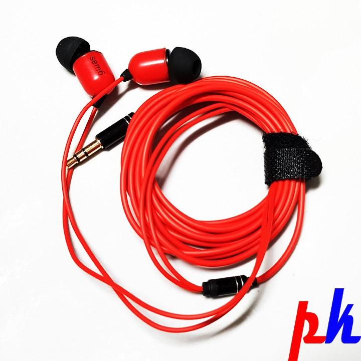 Tai nghe kiểm âm nhét tai SM-6 Hoa magpie dây dài 3 mét