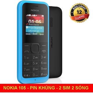 điên thoại nokia 105 2 sim - cũ 99% chính hãng cty