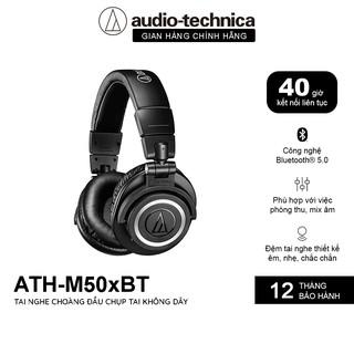 Tai Nghe Bluetooth Chụp Tai Over-ear Audio Technica ATH-M50xBT Thời Lượng Pin 40H - Hàng Chính Hãng