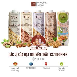 Các Vị Sữa Hạt Nguyên Chất 137 Degrees Thái Lan – Hộp 1000 ml