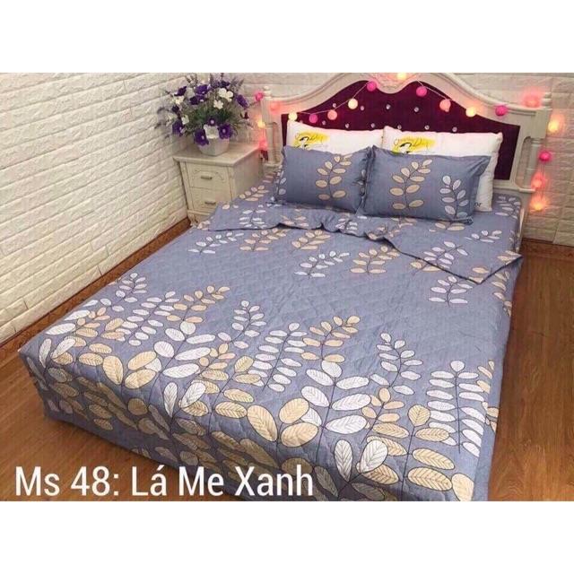 Ga bọc giường màu lá me 1m6 hàng đẹp màu xanh ghi tặng kèm hai vỏ gối đầu hàng chuẩn không xù không