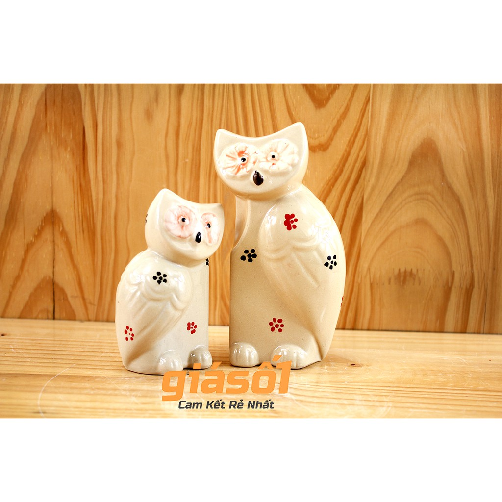Tượng nghệ thuật Cú Mèo đôi nhỡ gốm sứ Bát Tràng - 2739207 , 691799512 , 322_691799512 , 99000 , Tuong-nghe-thuat-Cu-Meo-doi-nho-gom-su-Bat-Trang-322_691799512 , shopee.vn , Tượng nghệ thuật Cú Mèo đôi nhỡ gốm sứ Bát Tràng