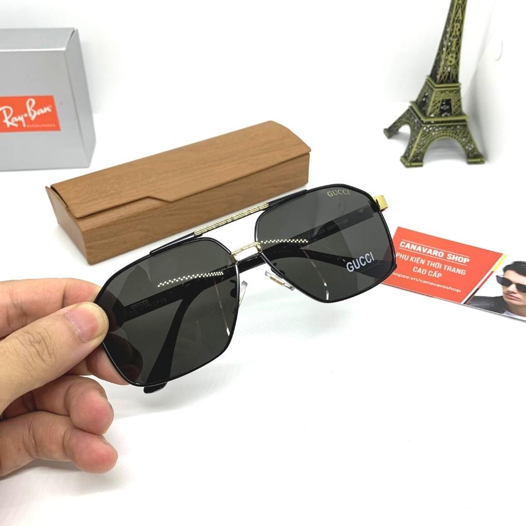 Kính râm nam thời trang mắt vuông cao cấp phân cực chống chói chống uv bảo vệ mắt bảo hành...