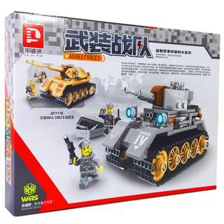 Bộ Lego Xếp Hình Xe Tank Chiến Đấu Chất Liệu Cao Cấp 270 Chi Tiết