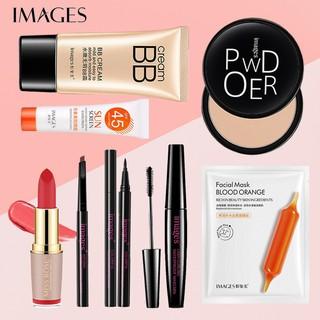 [HOT]Bộ trang điểm IMAGES Kem BB + Kem chống nắng + Phấn phủ + Chì kẻ mày + Bút kẻ mắt + Mascara + Mặt nạ + Son lì BB-32
