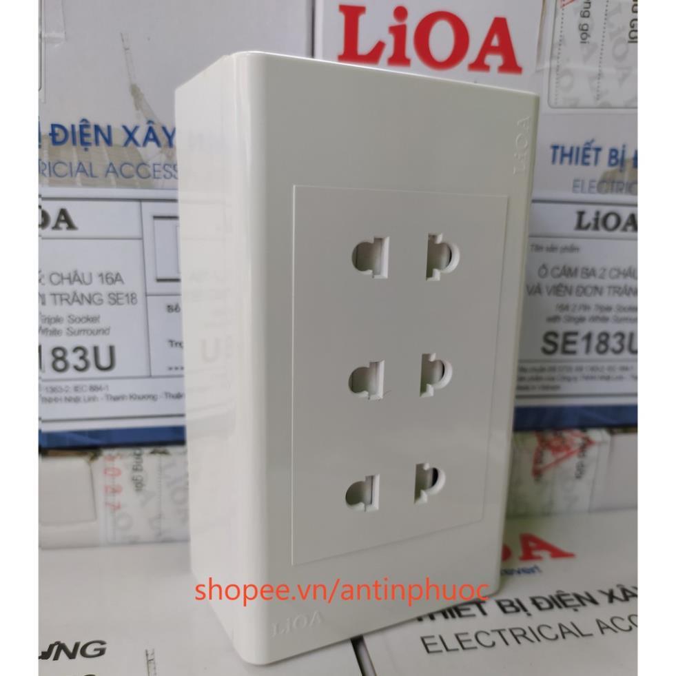 Mặt 3 ổ cắm Sino - Lioa , Ổ cắm điện âm tường tại Phú Thọ