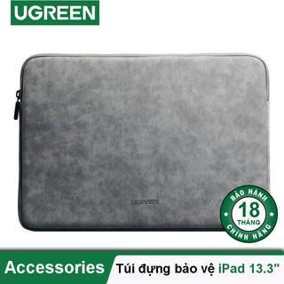 Túi đựng bảo vệ iPad bằng da, lót lông chống sốc, kích thước 9.7 inch, 13.3 inch, 15.4 inch UGREEN LP187