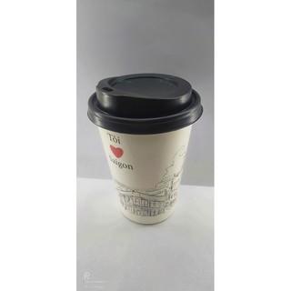 50 Ly Giấy In Hình Tôi Yêu Sài Gòn 14oz 400ml Có Nắp Ly giấy cafe Ly giấy đựng cà phê Cốc giấy Cốc giấy cafe thumbnail