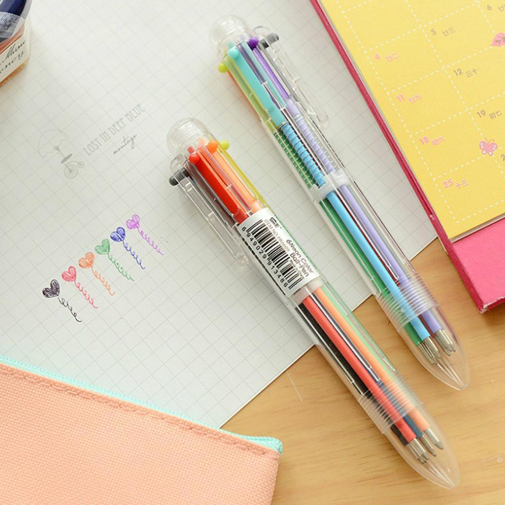 Bút bi nhiều màu thiết kế 6 trong 1 hoặc 8 trong 1 ngòi 0.5mm tiện dụng 1