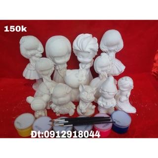Bộ tượng tô màu -Giá rẻ-Tp Vinh-Bộ tượng cỡ lớn kèm theo màu và bút vẽ-Giá bán:150.000₫-sđt:0912918044