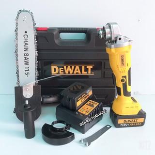 Máy mài dùng pin cầm tay Dewalt 118V Động cơ không chổi than 3 tốc độ Pin trâu 20000Mah máy khỏe Dụng cụ cho thợ dùng