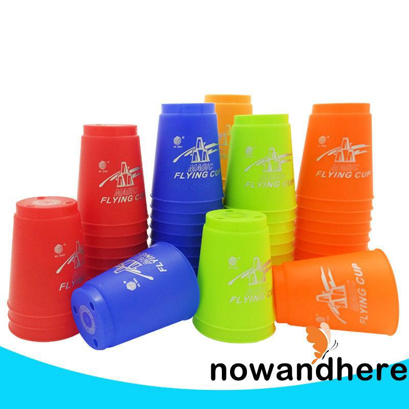 NHE-Fancy Toy Cups Competitor Sport Stacking Set Mat n Pro Timer 5 Colors