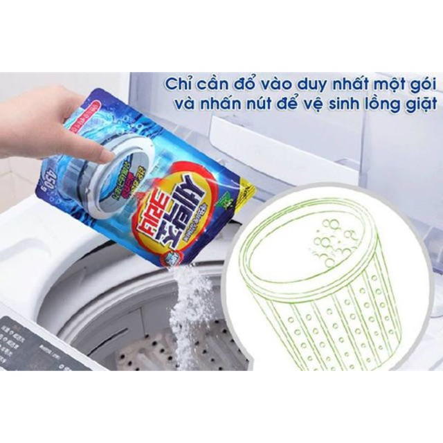 Gói vệ sinh lồng máy giặt