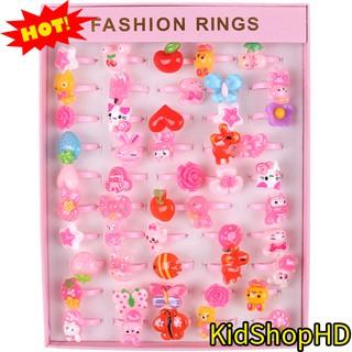 Bộ Nhẫn Nhựa Hình Nhật 50 Nhẫn Cho Bé 🌟 Hộp Nhẫn Nhựa Đẹp Mix Các Hình Bông Hoa và Con Vật Siêu Cute Cho Bé 🌟