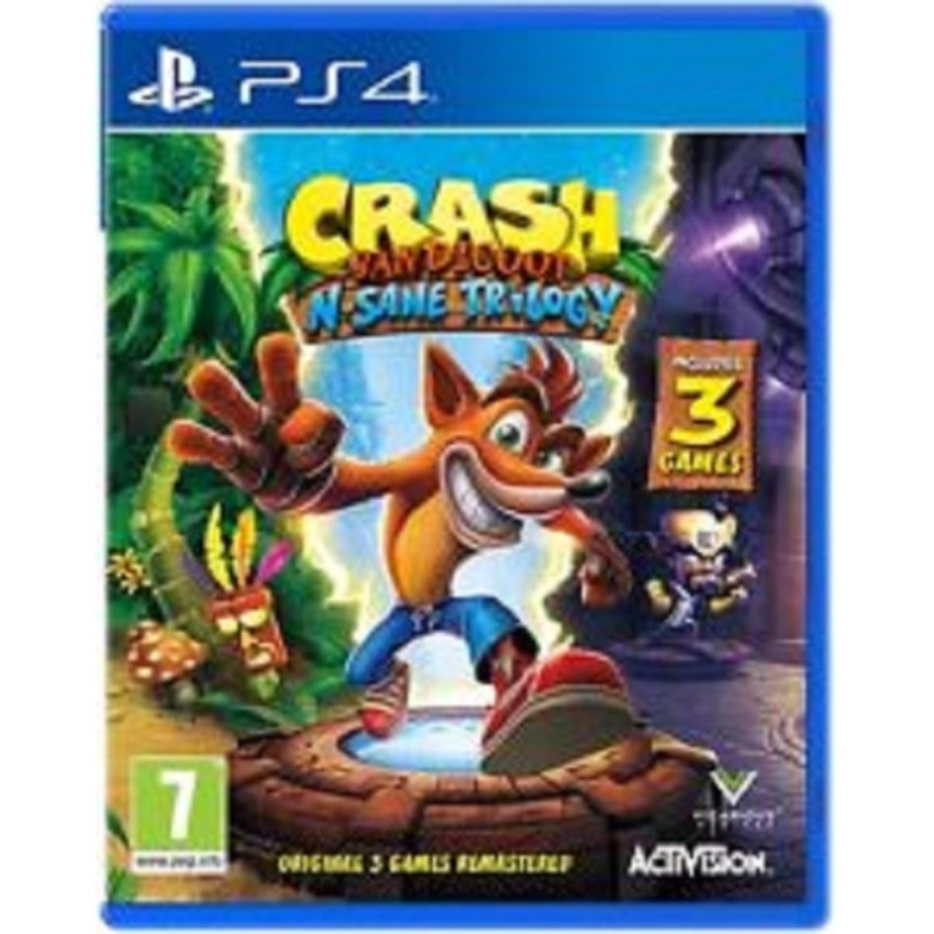 Đĩa Game PS4 Crash Bandicoot N. Sane Trilogy