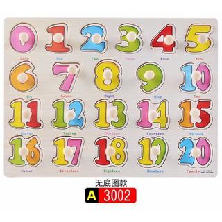 Combo 02 bộ đồ chơi gỗ bằng số và chữ cái trí tuệ cho bé