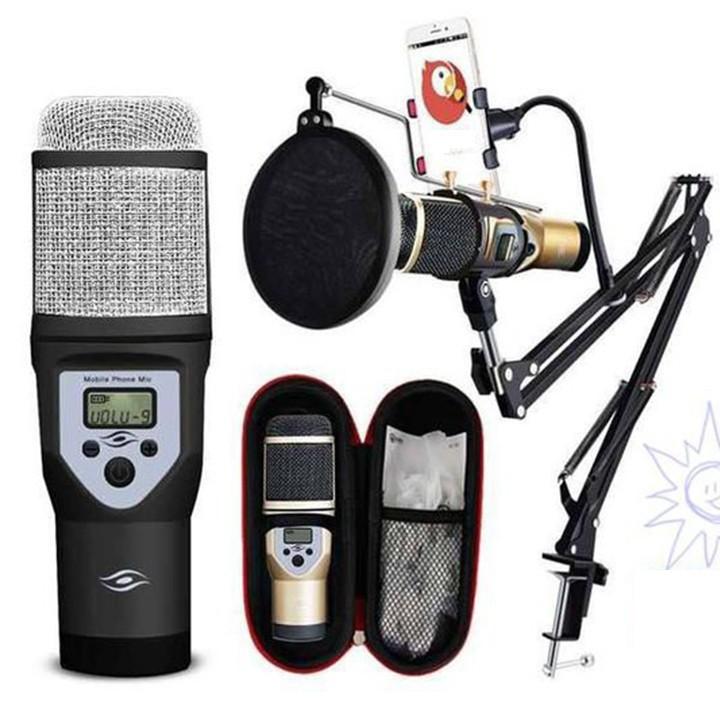 Micro karaoke hỗ trợ thu âm cao cấp M5 kèm khung