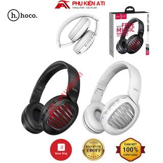 Tai nghe bluetooth chụp tai Hoco W23- Chụp tai chống ồn, âm cực hay-hỗ trợ khe cắm thẻ nhớ [BẢO HÀNH 1 ĐỔI 1]