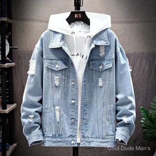 Áo Khoác Jeans Phong Cách Hàn Cá Tính Cho Nam
