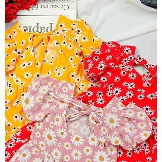 Đầm von lụa hoa xinh xắn cho bé gái
