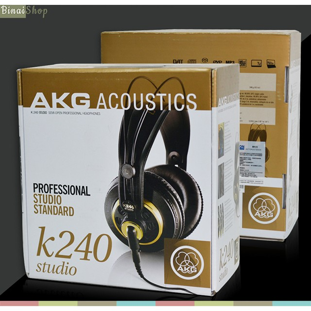 [Mã 267ELSALE hoàn 7% đơn 300K] Tai nghe kiểm âm chuyên nghiệp AKG K240 Studio