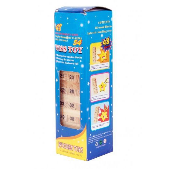 Rút gỗ số thông minh 48 thanh- Domino gỗ cho bé